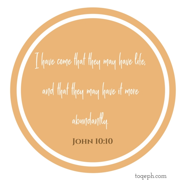The thief does not come except to steal, and to kill, and to destroy. I have come that they may have life, and that they may have it more abundantly.John 10_10 2