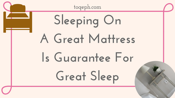 Sleeping On A Great Mattress Is Guarantee For Great Sleep Blog post banner Image
