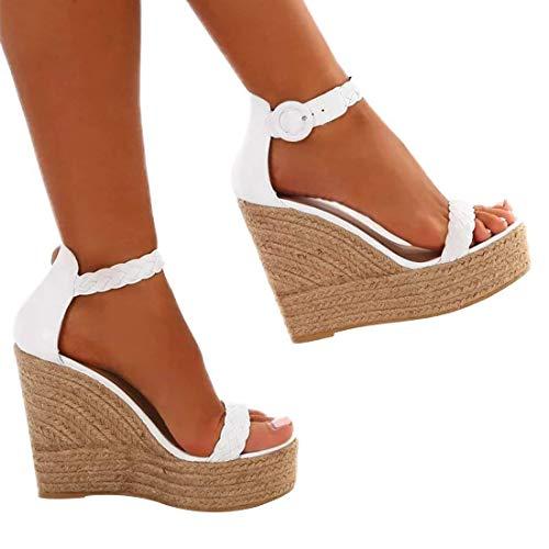 SNIDEL Wedge Sandals Women Platform High Heel Strappy Buckle Sandles